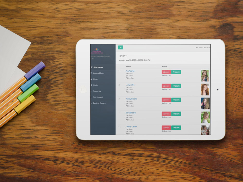 Manage your dance studio from your iPad with DanceStudio-Pro